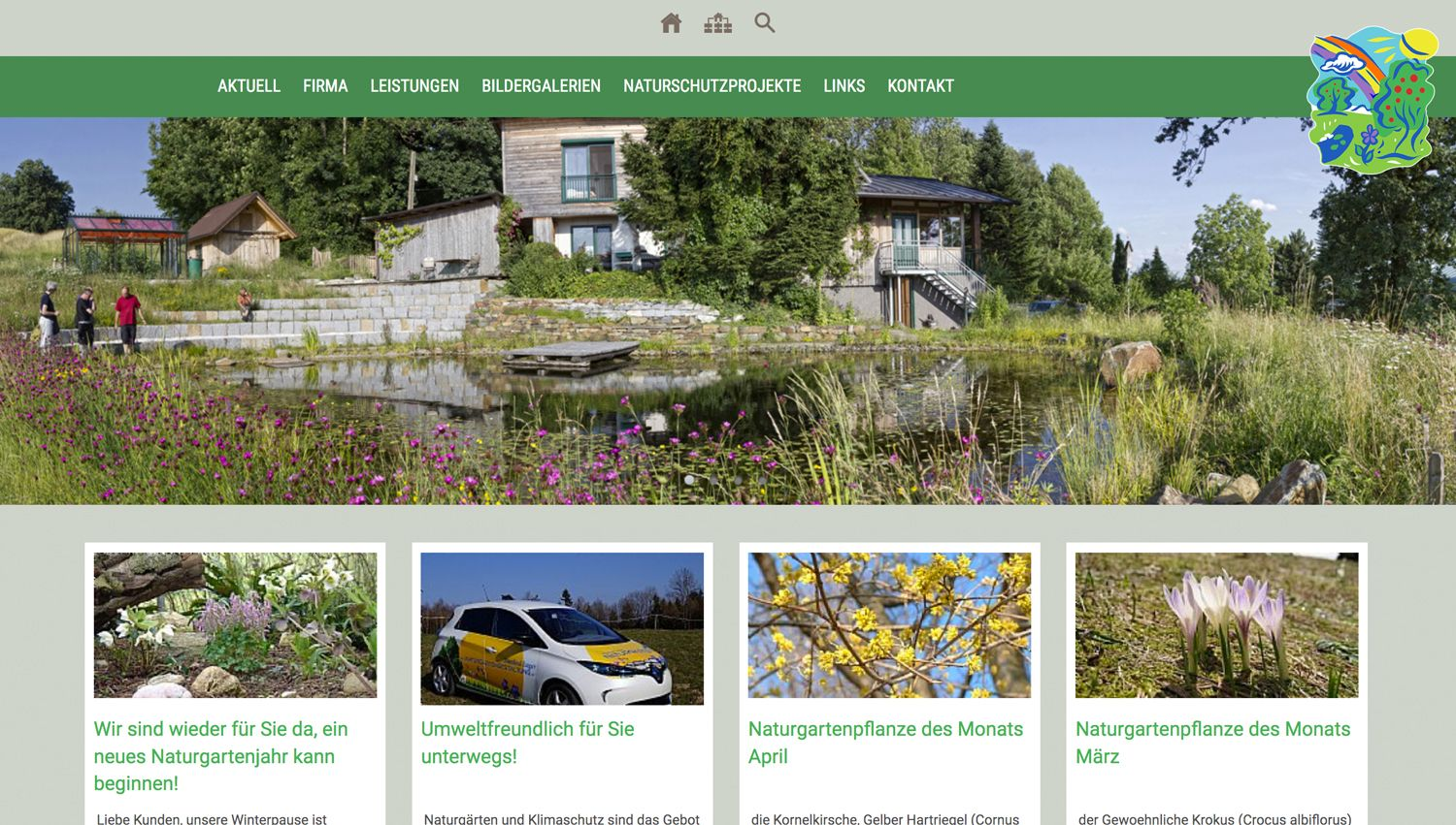 Screenshot naturgartengestaltung.at